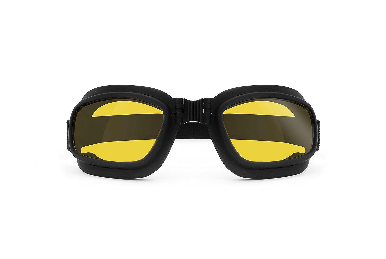Masque Lunettes moto avec verres anti-choc anti-bu/ée-Elastique-AF112 by Bertoni r/églable