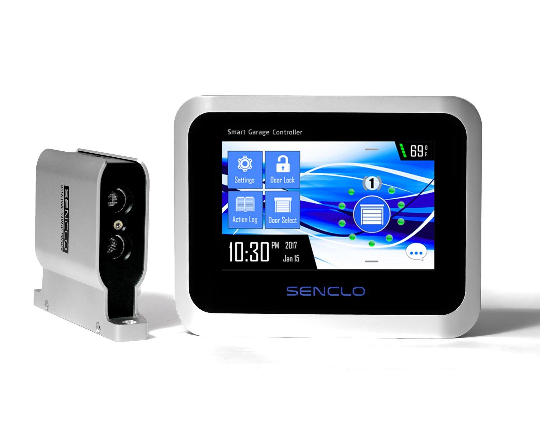 Senclo Fi, Universal, Smart and Autonomous Garage Door Opener with HD Touchscreen