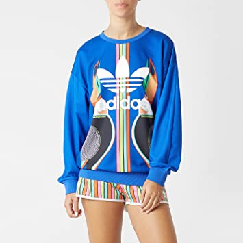 37569f1bb36d adidas Originals Women x FARM Tukana Trefoil Toucan Sweatshirt   Amazon.co.uk  Sports   Outdoors