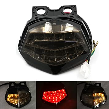 Amazon.com: Alpha Rider LED Tail Luz de freno de motocicleta ...