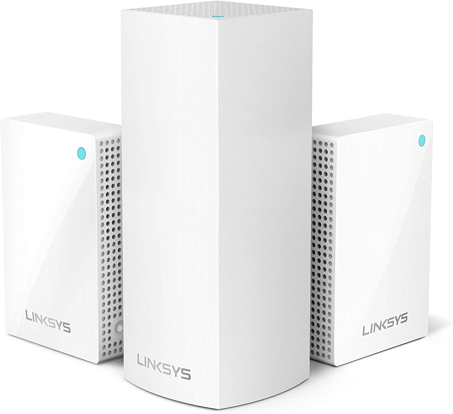 Linksys WHW0203P Velop Plug-in Home Mesh WiFi System Bundle (Dual/Tri-Band Combo) - WiFi Router/WiFi Extender for Whole-Home Mesh Network (3-Pack, White)