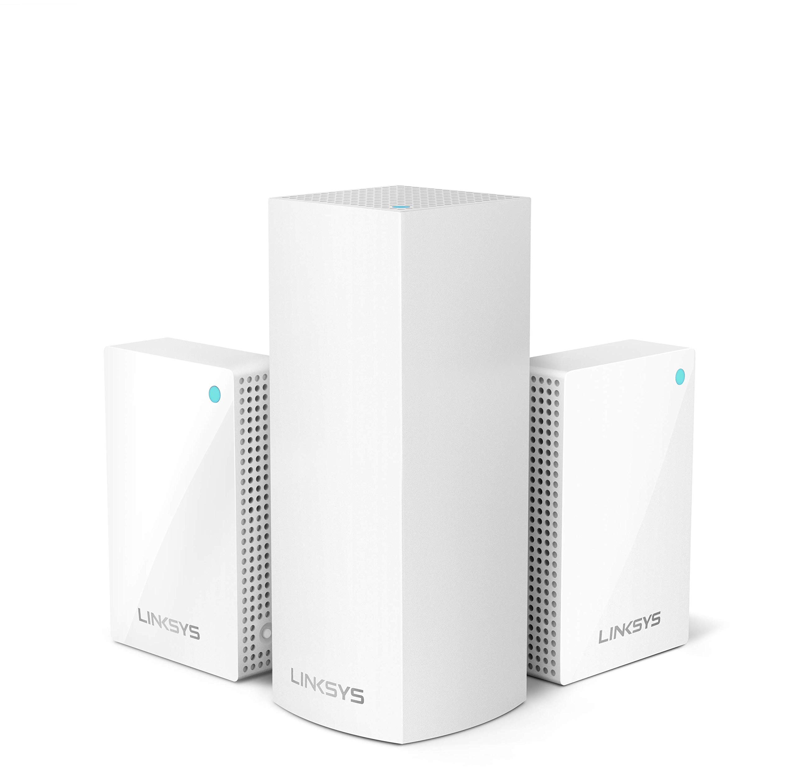 Linksys Velop Plug-in Home Mesh WiFi System Bundle (Dual/Tri-Band Combo) - WiFi Router/WiFi Extender for Whole-Home Mesh Network (3-pack, White) by Linksys