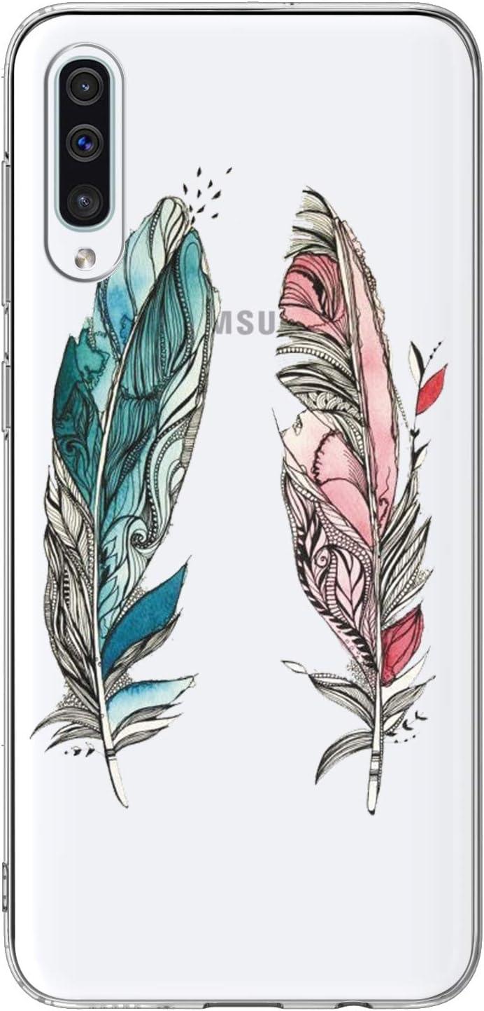 Allenett 3 St/ück Kompatibel f/ür Samsung Galaxy A50 H/ülle Silikon Case Schutzh/ülle Handyh/ülle Handytasche D/ünn Durchscheinend Transparent Clear Handycover R/ückh/ülle Marmorx3