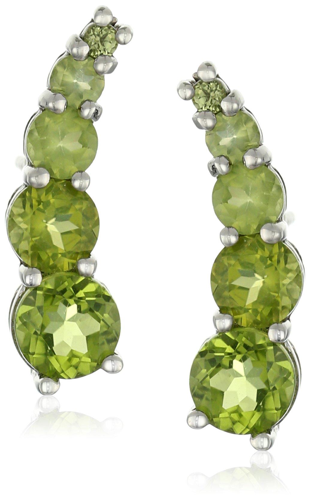 Peridot Round Gemstone Green Earrings Jackets