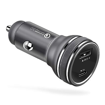 Amazon.com: Fasgear 36W USB-C Cargador de Coche, 18W entrega ...