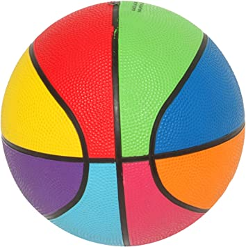 First-Play - Mini balón de Baloncesto arcoíris, Multicolor: Amazon ...