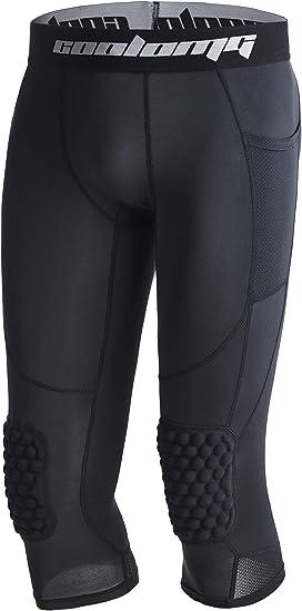 Amazon.com: COOLOMG Pantalones de baloncesto con rodilleras ...