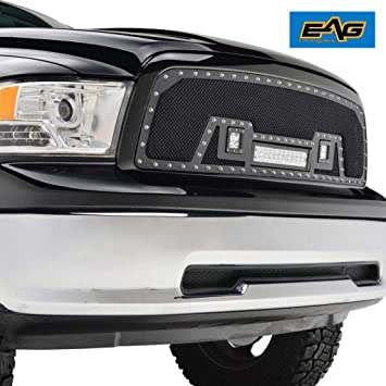 Amazon.com: e-autogrilles 09 – 12 dodge ram 1500 Rivet Negro ... on