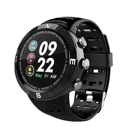 JIANGJIE Reloj Inteligente, GPS IP68 Rastreador de Actividad en Modo de Deportes múltiple a Prueba