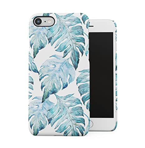 DODOX Tropical Pale Blue Jungle Leaves Floral Pattern Apple ...