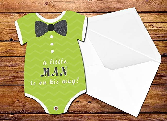 Amazon bow tie baby shower little man baby shower invitation bow tie baby shower little man baby shower invitation baby onesie invitation baby filmwisefo