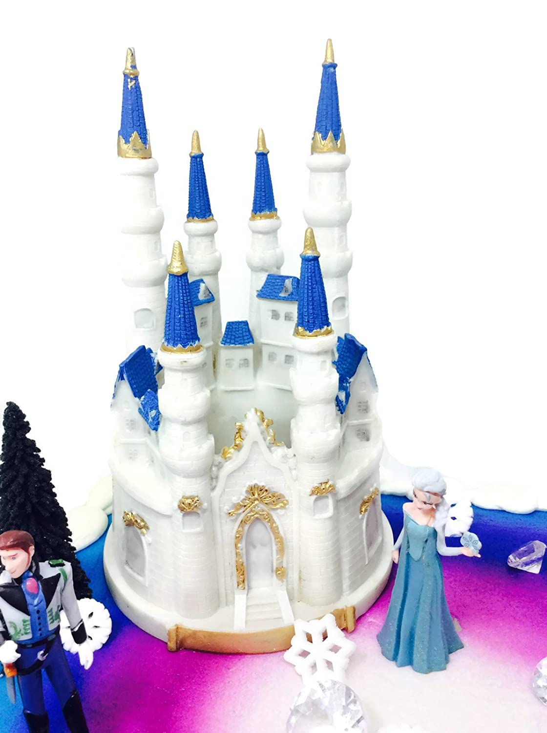 Amazoncom Disney Frozen Cake Toppers Decoration Set Toys Games