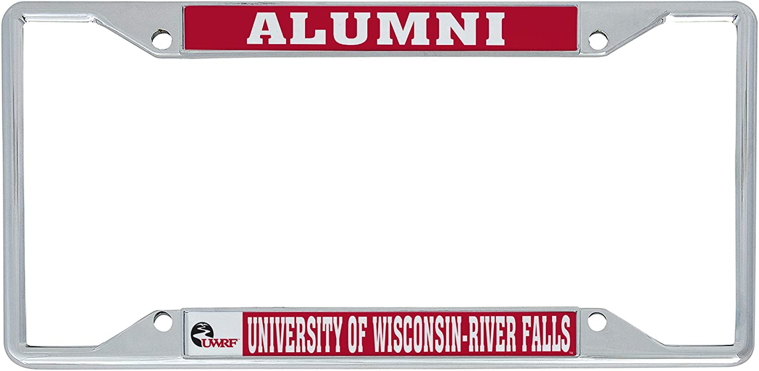 Desert Cactus University of Wisconsin River Falls UWRF Falcons Metal License Plate Frame for Front or Back of Car Officially Licensed (Alumni)