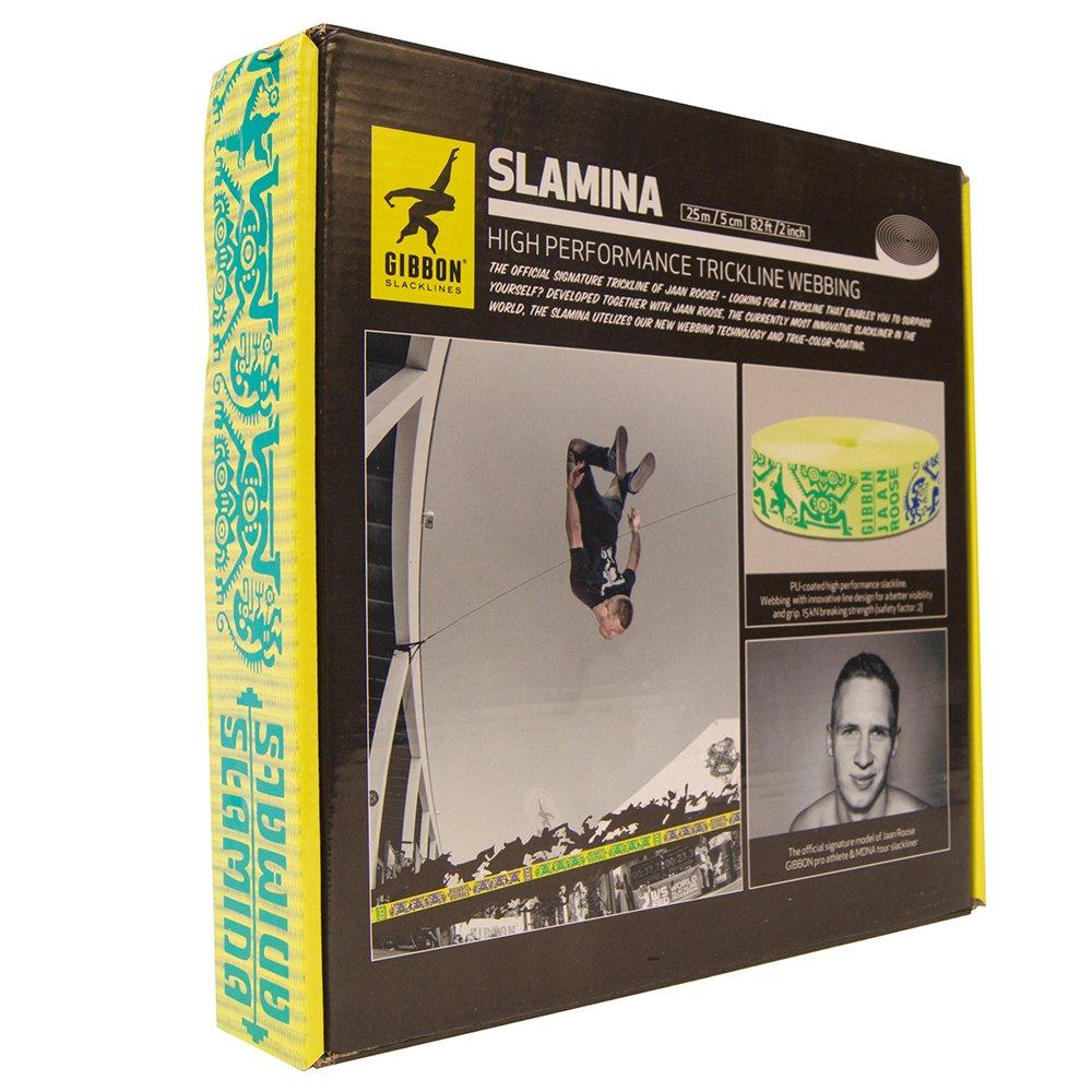 Talla /Única Gibbon Slacklines Slamina Webbing Slackline Blanco