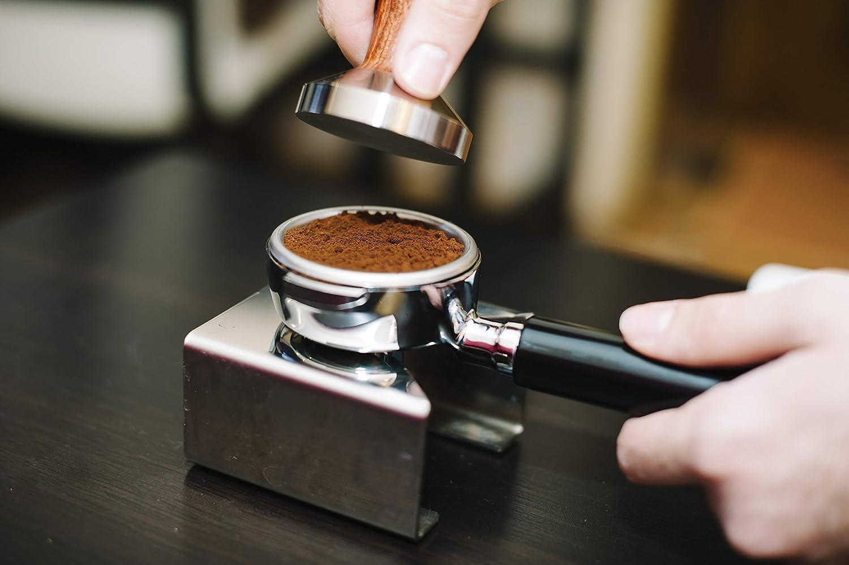 Holz passend f/ür alle Siebtr/äger mit /Ø/51/mm silber schwere Ausf/ührung aus rostfreiem Stahl mit Holzgriff GASTROBACK 90614 Espresso-Tamper Barista Profi Holzgrif