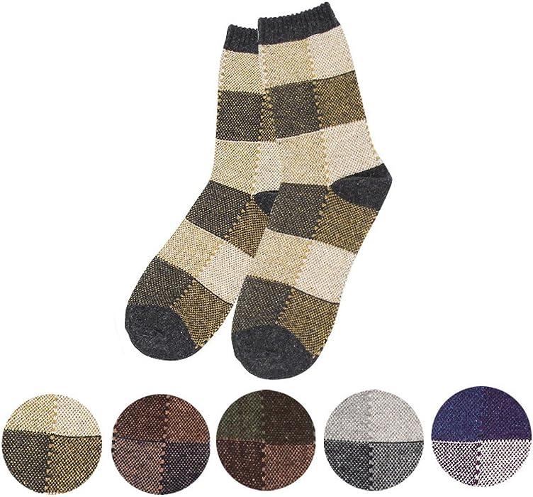 861454cffd594 E& Vanessa Mens 10 Pack Soft Thick Angora Cashmere Casual Rabbit Wool Blend Warm  Winter Socks