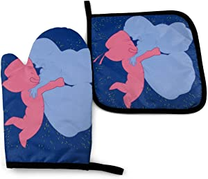 SDFDFGD Steven Universe Ruby and Sapphire -Oven Mitts and Pot Holders Heat Resistant Kitchen Bake Gloves Cooking Gloves