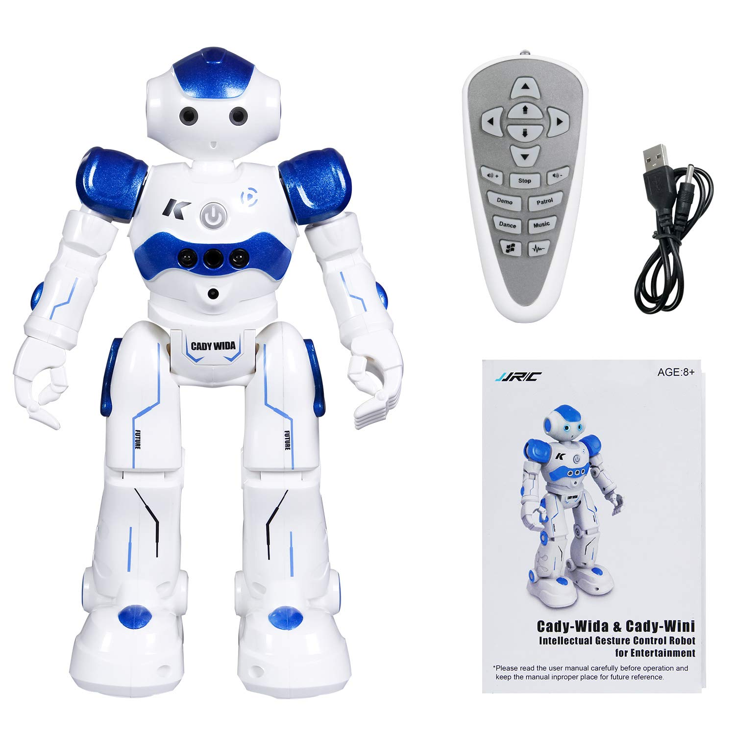 SGILE Remote Control Robot, RC Programmable Educational Robot for Kids Birthday Gift Present, Interactive Walking Singing Dancing Smart Intelligent Robotics for Kids Boy, Blue by SGILE (Image #5)