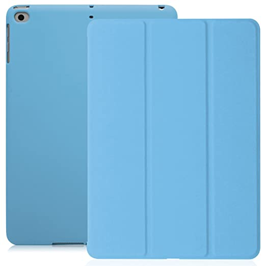 43 opinioni per Cover iPad 9.7- Versione 2017- KHOMO® Custodia Blu Azzurra Smart Cover piú Back
