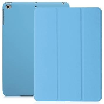 KHOMO Funda iPad 9.7 2018 y 2017 (5ta y 6ta Generación) Carcasa Ultra Delgada y Ligera con Smart Cover Apple iPad 9,7 2017 y 2018 - Azul Celeste