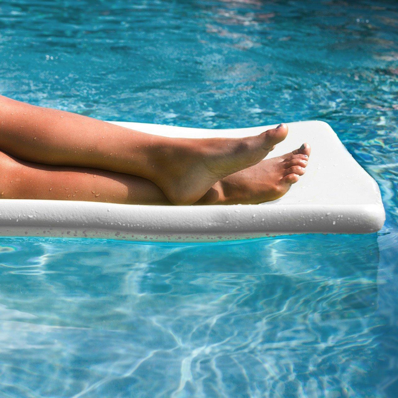 TRC Recreation Sunsation 70 Inch Thick Foam Raft Lounger Mat Pool Float, White (2 Pack) by TRC Recreation (Image #3)