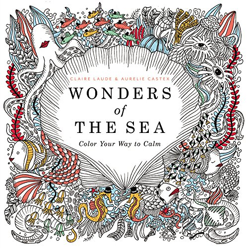 Wonders Of The Sea Color Your Way To Calm Claire Laude Aurelie Castex 9780316350068 Amazon Books