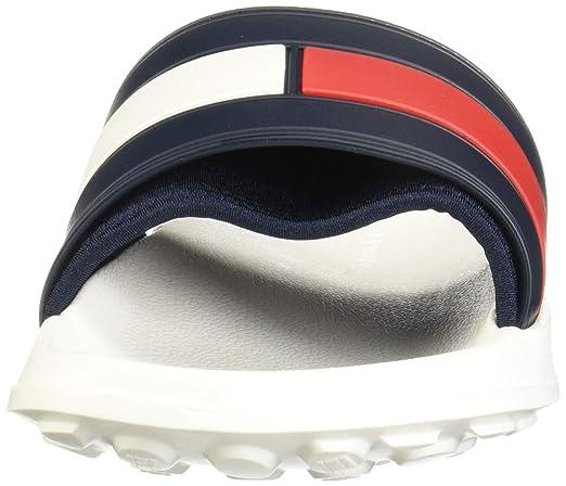 dea2b2a8 Tommy Hilfiger Flag Pool Mens Slide White Navy Red - 39-40: Amazon.ca:  Shoes & Handbags