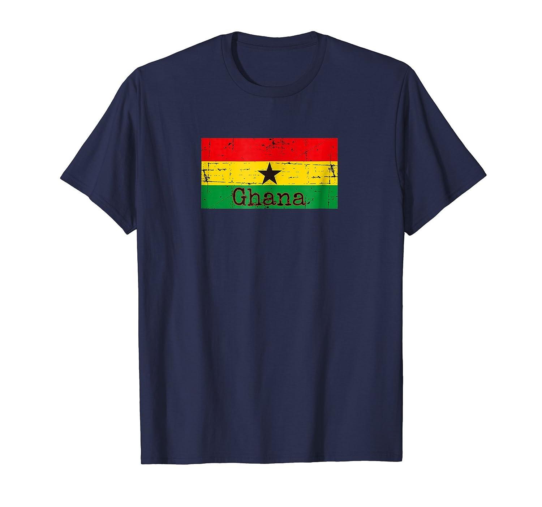 Ghana Flag t-shirt Distressed African Pride Shirt-fa