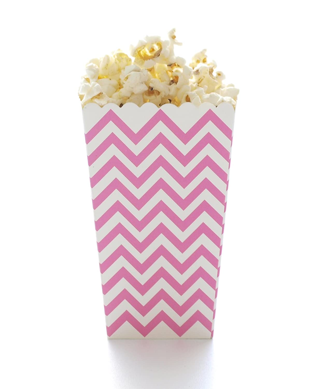 Amazon.com: Pink Chevron Popcorn Boxes, Hot Pink (12 Pack) - Zigzag ...
