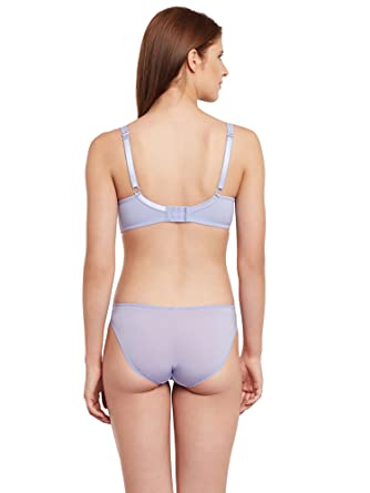 8f91f45499 Secrett Curves Seduction Spacer Underwire Full Coverage Padded Cup T Shirt  Bra   Panty Set-Periwrinkle at Amazon Women s Clothing store