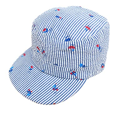 7b83ba15 Cotton Army Cap Boys Babies Children Sailboat Printing Summer Sun Hat,XXL:  Amazon.co.uk: Clothing
