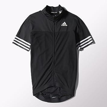 8027f9830 adidas Adistar Short Sleeve Cycling Jersey - Black White - XXL  Amazon.co.uk   Sports   Outdoors