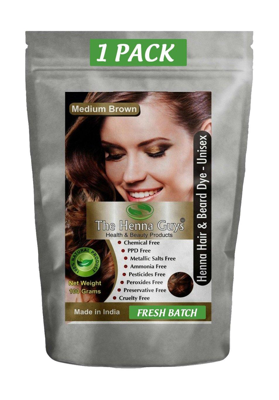 Amazon.com : The Henna Guys Henna Hair and Beard Color/Dye, Medium ...
