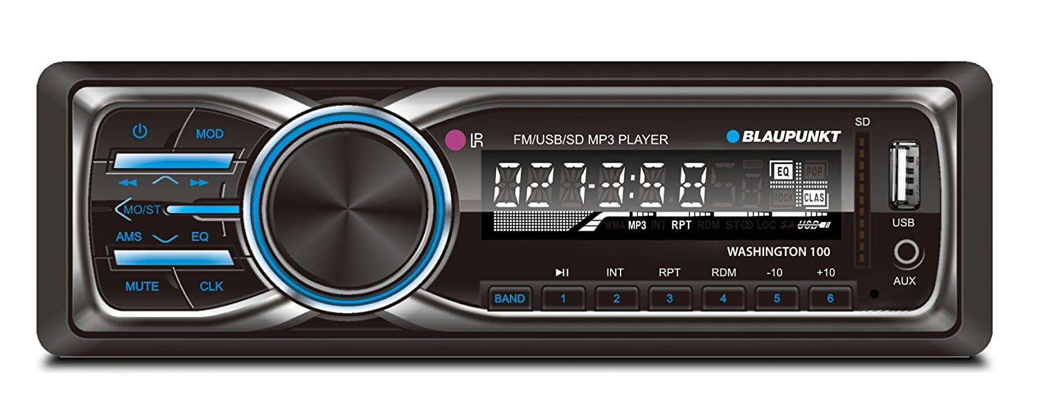 Amazon.com: Blaupunkt COLUMBUS 100 BT MP3 and FM Bluetooth Car Stereo  Receiver with USB, SD and AUX Port and Remote Control: Cell Phones &  Accessories