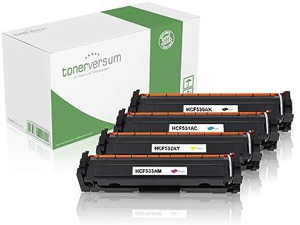 4 Tóner compatible con HP cf530 a/cf531 a/cf532 a/cf533 a para ...