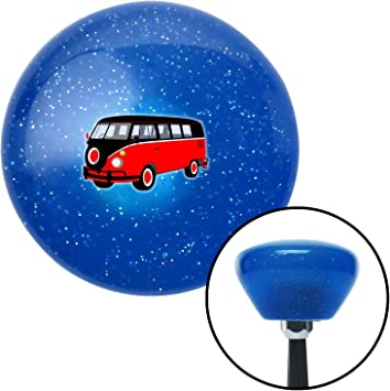American Shifter 192593 Blue Retro Metal Flake Shift Knob with M16 x 1.5 Insert Red//Black Camper