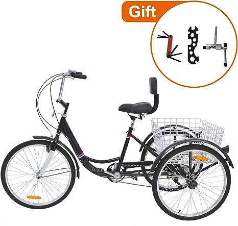 Barbella - Bicicleta de Tres Ruedas para Adultos de 20 Pulgadas ...