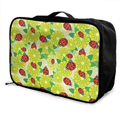 e0f12a53b463 Amazon.com: Ladybird Beetles Pattern Travel Lightweight Large ...