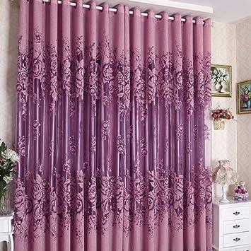 Amazoncom PanDaDa Modern Room Floral Tulle Window Screening - Amazon living room curtains