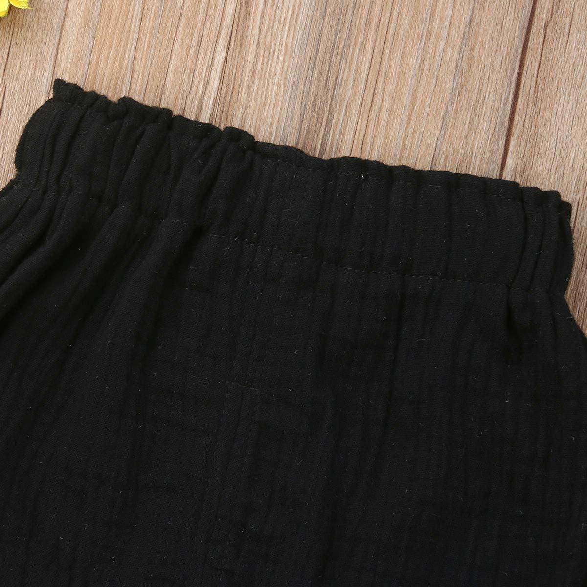 Newborn Baby Girls Kids Boho Floral Bell Bottom Flare Leggings Trousers Pants