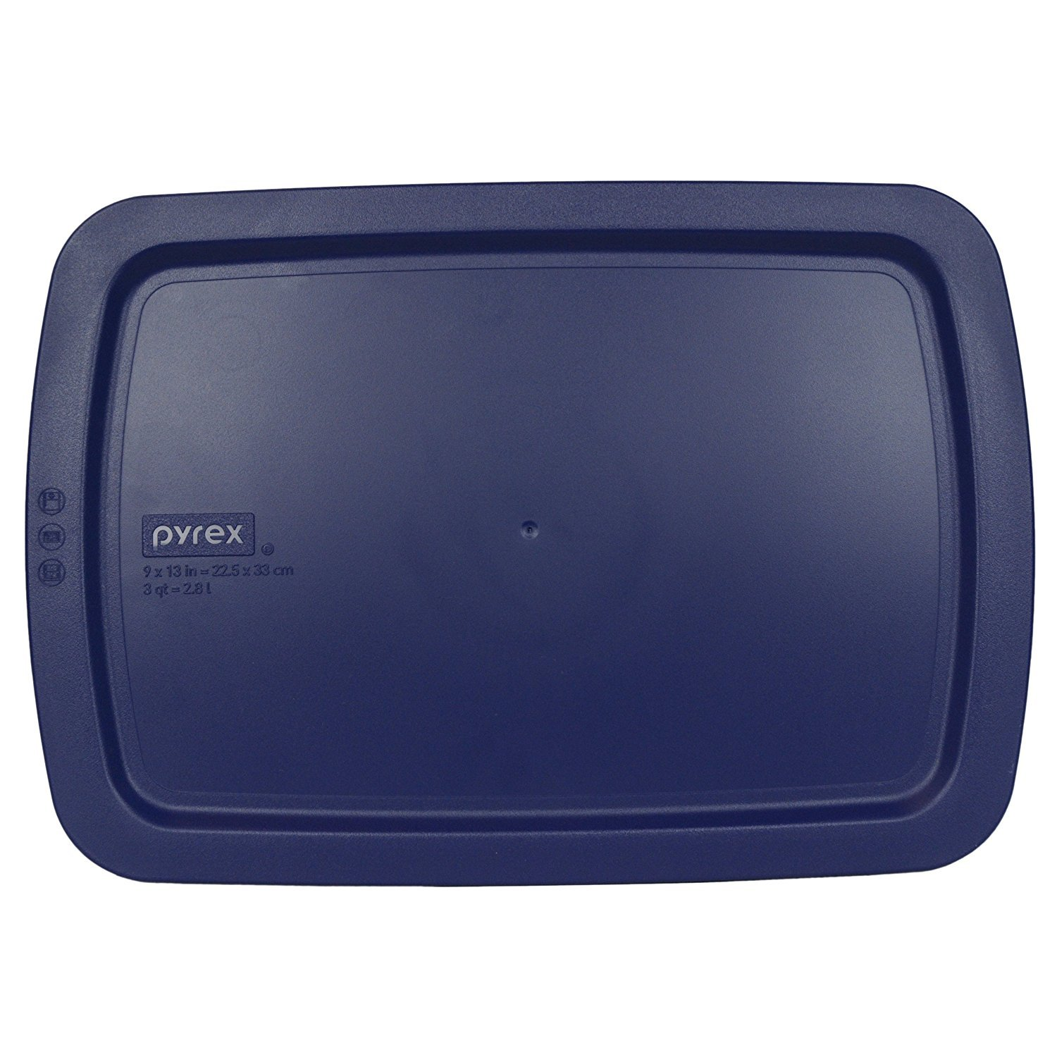 """Pyrex C-233-PC Easy Grab Blue Rectangle Plastic Lid for 9"""" X 13"""" Oblong Baking Dish (Only Fits Easy Grab Baking Dish)"""