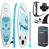 FBSPORT Brushed Thickening Inflatable Stand Up Paddle Board with Complete Accessories & Carry Bag, Wide Stance, Surf…