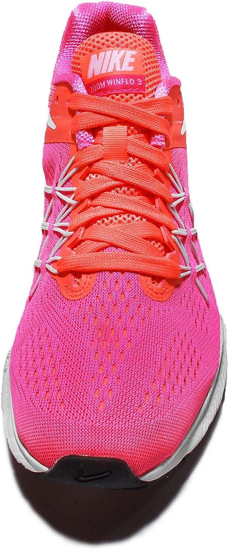 Nike Zoom Winflo 3 Pink Blast White Bright Mango 831562 600 Womens Running Shoes 831562 600