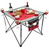 Creative Outdoor 820117-Red/Grey Folding Wine Table