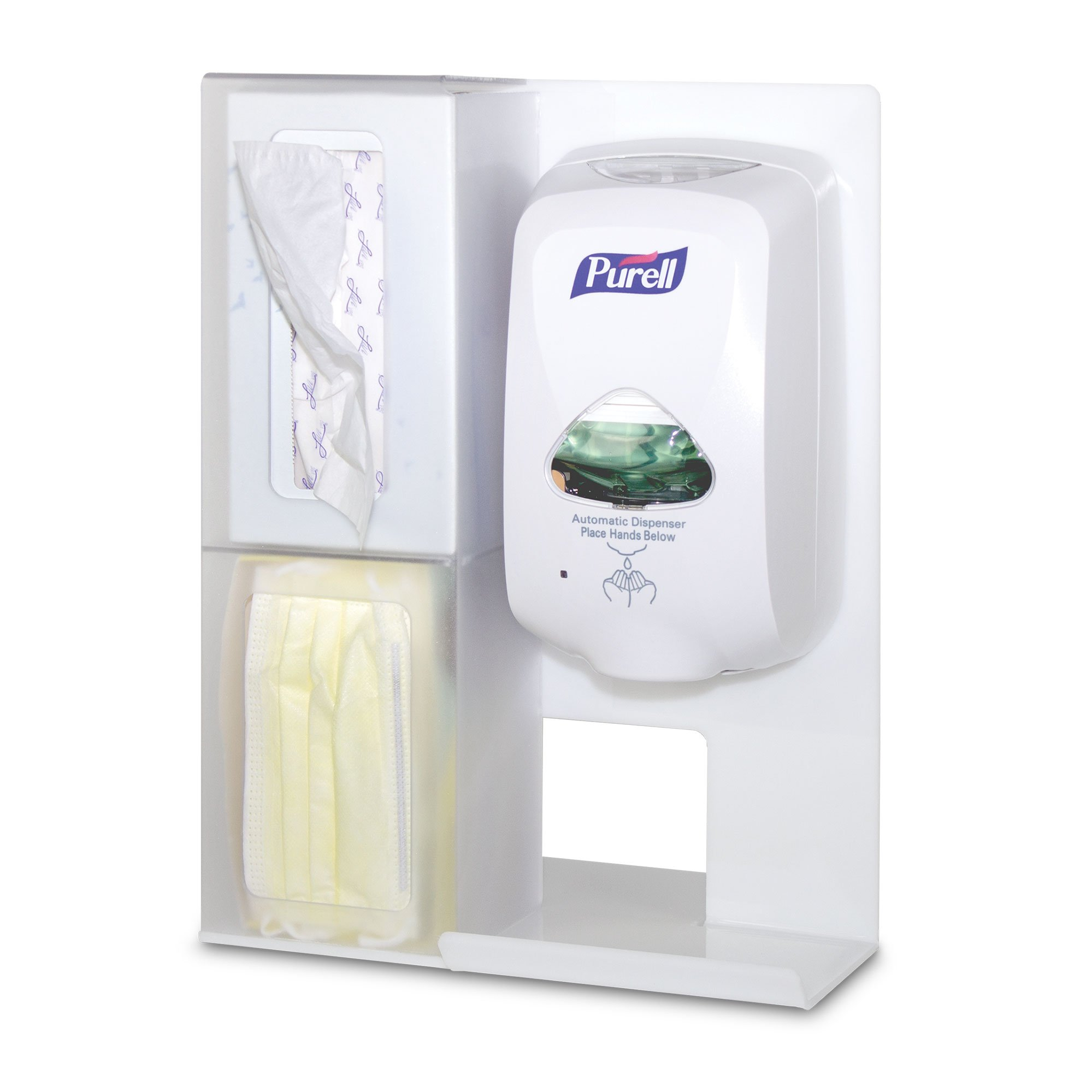 Hygiene Center Bundle with Wall Mount Hand Sanitizer Dispenser and Accessories (5 items)