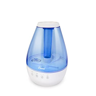 Crane Classic Warm & Ultrasonic Cool Mist Humidifier, Blue & White