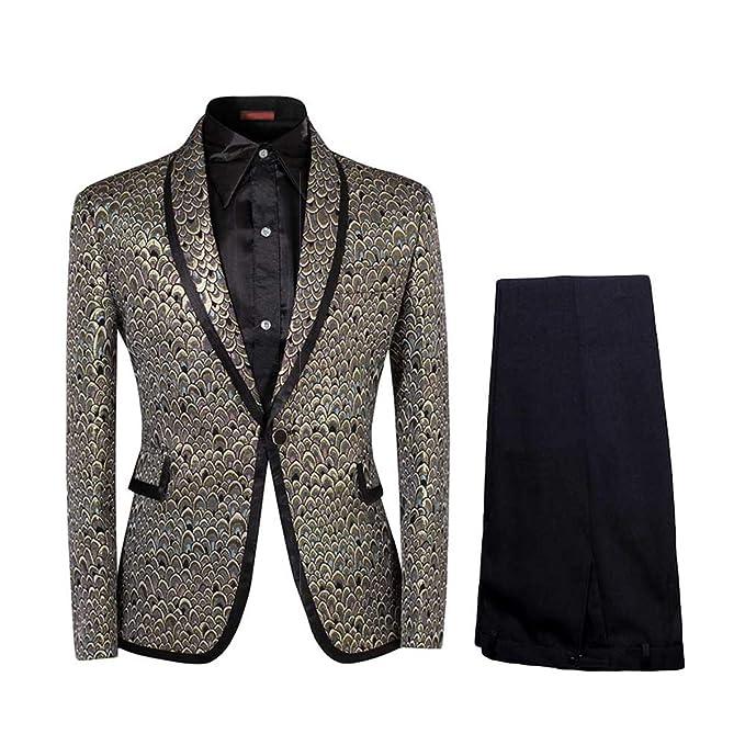 Amazon.com: Cloudstyle traje de 2 piezas para hombre con un ...