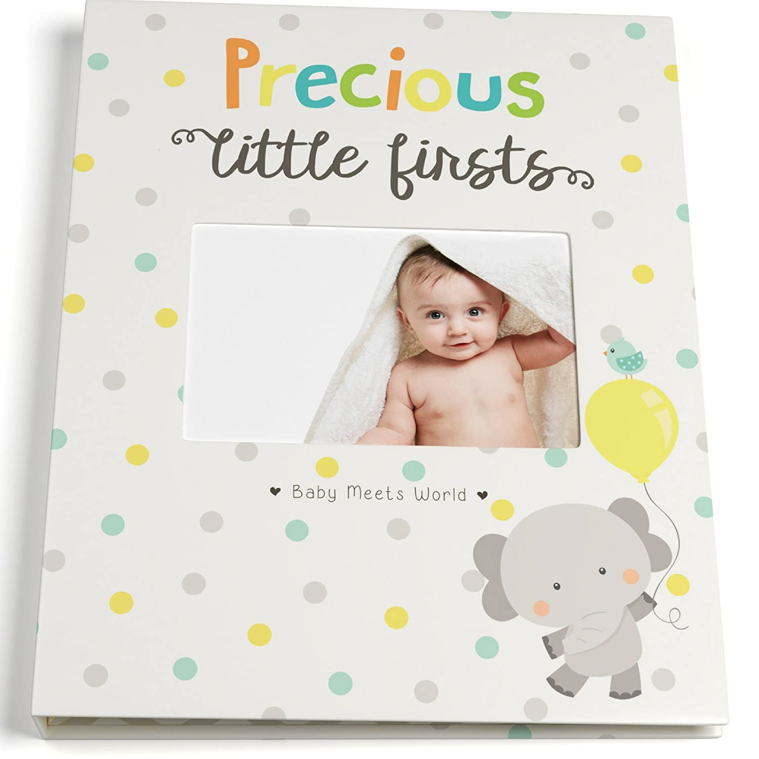Baby Memory Book for First Year to Five, Record Each Milestone from Your Child in a Keepsake Journal, For Boys and Girls, Modern Photo Album and Baby Shower Guestbook, 9 Inch x 11.5 Inch Cover Cameron Frank Products