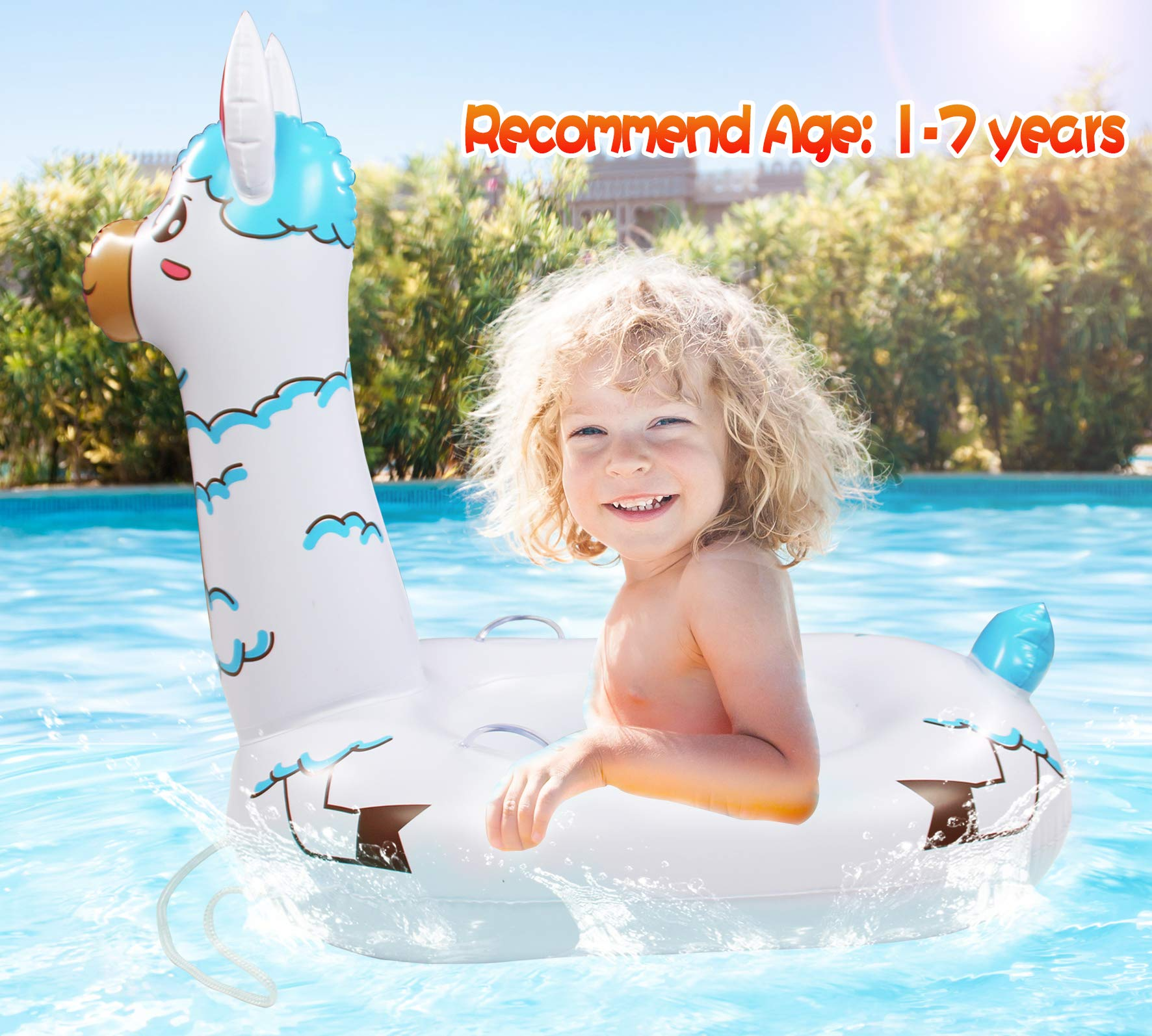 TRSCIND Baby Pool Float, Pool Floats for Kids, Toddler Pool Float with Safety Rope Swimming Float for Kids Toddlers 1-7 by TRSCIND (Image #5)