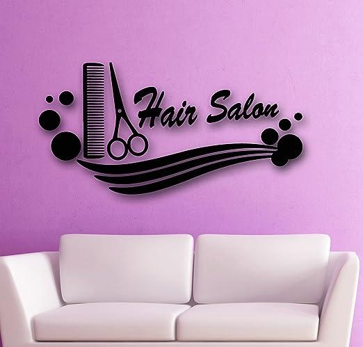 Hairdresser Stylist Scissors Decal Sticker beauty salon spa pink nails barber